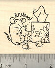 Get Well Mouse Rubber Stamp with Cold or Flu symptoms J23601 WM