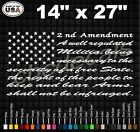 2nd Amendment American Flag Truck Back Glass Vinyl Decal Sticker
