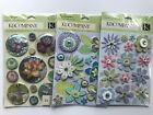 K  Co Flowers Scrapbooking Stickers Lot Snow Globe Wedding Susan Winget Lilac