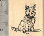 Christmas Cairn Terrier Dog Rubber Stamp With Candy Cane J23004 WM