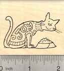 Christmas Cat Rubber Stamp in Joy Holiday Sweater H22914 WM