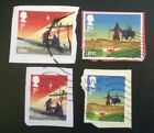 4 USED GB 2015 Christmas Bethlehem Nativity 1st 2nd class STAMPS SG 3771 2 3 4