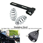 Motorcycle Solo Seat Springs Bracket+Sliding T-Bar Fit For Honda Kawasaki Suzuki