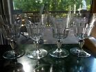 Set 4 Water Goblets Glasses 6 tall Cut Crystal signed Baccarat Bretagne panel