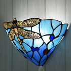 Tiffany Style Wall Light Night Glass Lamp Uplighter Lamps Stained Handcrafted
