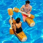 Fun Summer Log Flume Joust Swimming Pool Inflatable Float Game Set Toy 2 Pairs
