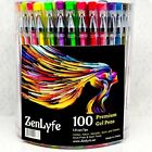 Gel Pens Set 500 Glitter Metallic Neon Colors for Adult Coloring Books 5x 100