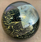 VINTAGE 1989 Randy Strong Black and Gold Paperweight 3 1 4 Inch Beautiful Piece