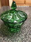 Anchor Hocking Forest Green Candy Dish With Lid