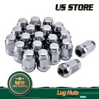 Set of 20 Chrome Lug Nuts 1 2 x 20 For Jeep Wrangler Cherokee TJ YJ CJ JK JKU