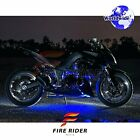 For Cagiva Raptor Xtra 6Pcs RGB Light Strips 145mm Bendable Fairing Frame Design
