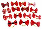 20Pcs Assorted Red Hair Bows for Small Dog Puppy Cat Pet Grooming Products