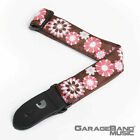 DAddario 15UKE02 15 inch Nylon Ukulele Strap Brown and Pink Flowers