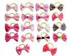 20Pcs Assorted Pink Hair Bows for Small Dog Puppy Cat Pet Grooming Products