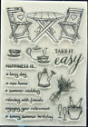 Summer with Friends Clear Stamp Set Scrapbooking Crafts Cardmaking Stamping Wine