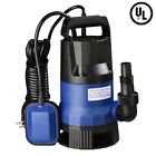 3 4 HP 2640GPH 550W Swimming Pool Flood Pond Submersible Dirty Clean Water Pump