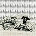 Hunter Thompson Bat Country BLOTTER ART perforated sheet paper psychedelic art
