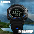 Men Tactical Military Compass Outdoor Sports Stopwatch Digital Wrist Watch 5 ATM