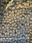 Susan Branch Language of Flowers Rare Blue Leaves Fabric BTY 3 YDS Avail