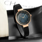 Waterproof Simple And Stylish Marbled Road Dial Ultra Thin Mesh Belt Watch