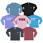 Victorias Secret Pink T Shirt Long Sleeve Graphic Tee Vs Logo Casual New Nwt
