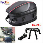 Motorcycle Tail Bag Motorbike Helmet Pack Luggage Rear Seat Rider Bag Waterproof