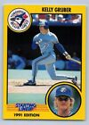 1991  KELLY GRUBER - Kenner Starting Lineup Card - TORONTO BLUE JAYS