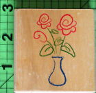 Flowers in Vase rubber stamp