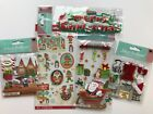 Christmas Scrapbook Stickers Lot Jolees Santa Sleigh North Pole Pictures Elves