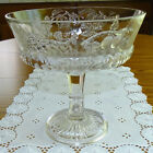 Antique EAPG Dalzell Gilmore + Leighton Large Clear Glass Compote Cornucopia