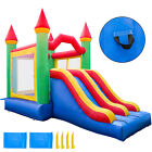 Inflatable Bounce House PVC Double Slide Climbing Wall Commercial