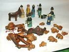 Vintage Miniature Wooden Christmas Nativity Dolls Figures Germany 25 Pieces