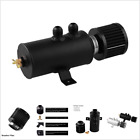2-Port Engine Baffled Oil Catch Can Tank Oil Separator With Breather Filter AN10