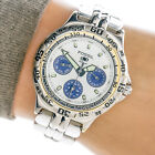Fossil Blue Womans or Boys Watch BQ9022 Day Date Hour Sub Register 100m Working