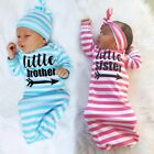 Baby Kids Girls Newborn Sister Brothers Home Soft Sleepwear outfit Baby Gown Set