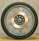 Vintage Honda CB200 Front Wheel Chrome Spoked With Axle, Rotor and Tire OEM 18