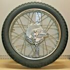 Vintage Honda CB200 Rear Wheel Chrome Spoked With Axle, Brakes And Tire OEM 18