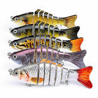 5PCS 10CM Minnow Crank Baits Bass Segment Multi Jointed Fishing Lure Crankbaits