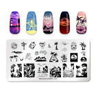 NICOLE DIARY Stamping Plates Rectangle Summer Beach Series Nail Art Templates