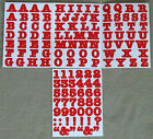 Creative Memories Alphabet Letter ABC and number 123 stickers Red