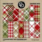 Christmas Plaids Scrapbook Paper 14 8x8 Inch Double Sided Scrapbooking Pages B