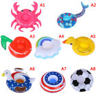 Inflatable mini floating drink can cup holder swimming pool beach party t SL