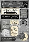 Scrapbooking Crafts KF Stickers Magical Night Prom Limo Homecoming Dream Dress
