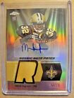 2011 Mark Ingram Topps Chrome Refractor Autograph Patch RC Auto 25