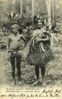 indonesia MENTAWAI MENTAWEI Native Youth in Traditional Costumes 1908 Postcard