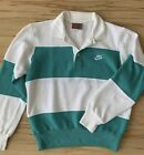 Vintage Nike Gray Tag Polo Striped Sweater Small
