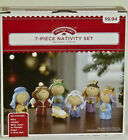 NEW Holiday Time Childrens Nativity Set 7 Piece Youth Christmas Decor 7 Piezas