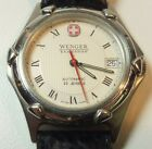 Wenger SAK Design Automatic Mens Watch 25 Jewels Date Swiss Made Leather Band C3