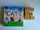 VTG LOT All Night Media Cats Rubber Stamp Set MIB plus 4 more