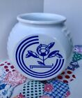 Vintage ANCHOR HOCKING Vitrock Blue Circle Grease Jar